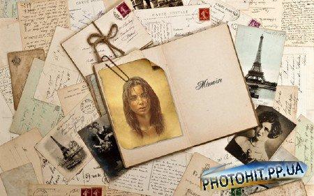 Фоторамка psd - Воспоминания
