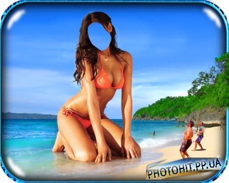 Фотошаблон для фото - Остров лилипутов